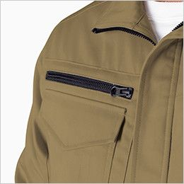 ジーベック 2020 綿100%長袖ブルゾン(男性用) ファスナーポケット
