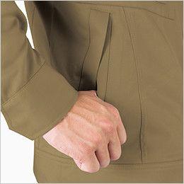 ジーベック 2020 綿100%長袖ブルゾン(男性用) 逆玉ポケット