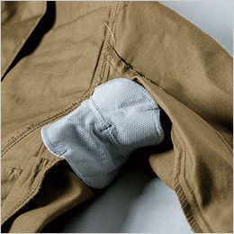 ジーベック 2029 綿100%ブルゾン(女性用) 吸汗消臭タイプの脇パッド付