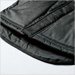 ジーベック 213 現場服 綿100% 防寒ベスト 背中が出にくい長めの後裾