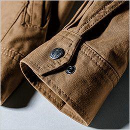 ジーベック 2153 現場服 長袖シャツ(綿100%) 金属ドットボタン