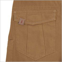 ジーベック 2156 [春夏用]現場服 バックツイルラットズボン(綿100%) ポケットフラップには便利な綾テープの引手付き