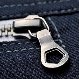 [在庫限り/返品交換不可]ジーベック 2184 現場服ストレッチ制電長袖シャツ 金属製ファスナー