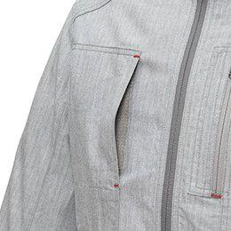 ジーベック 2294 [春夏用]現場服ストレッチ長袖ブルゾン フルハーネス対応 マジックテープ仕様のポケット