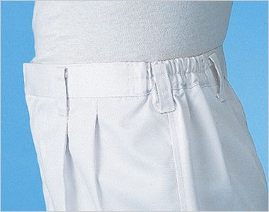 ジーベック 25301 スラックス(裾ネット付)(男性用) スムーズな動きをサポートする脇ゴム仕様