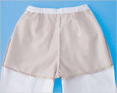 ジーベック 25315 スラックス(裏地付)(女性用) 腰まわり裏側に肌色の別布を配して、下着が透けにくくなるように配慮しています。