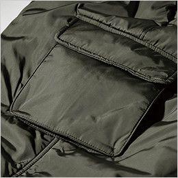 ジーベック 320 高密度タフタボリューム中綿防寒パンツ ボリューム感のあるカーゴポケット付き