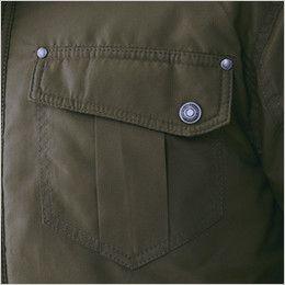 [在庫限り/返品交換不可]ジーベック 331 デザイナーズ トップサーモ中綿防寒コート リベット使いの胸ポケット