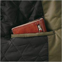 [在庫限り/返品交換不可]ジーベック 331 デザイナーズ トップサーモ中綿防寒コート 内ポケット