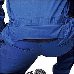 ジーベック 34012 綿100%ツイル  楽脱ファスナーつなぎ 続服(男女兼用) 腰パワーネット