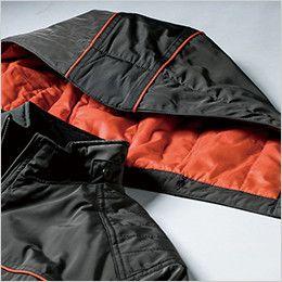 ジーベック 342 [秋冬用]超撥水防寒ライダースブルゾン フードの取り外し