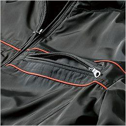 ジーベック 342 [秋冬用]超撥水防寒ライダースブルゾン ポケットに金属ファスナーを使用