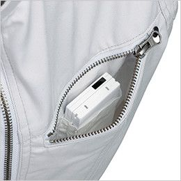 ジーベック 34881 楽脱ファスナーつなぎ(男女兼用) 左胸 二重構造ポケット