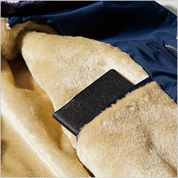 ジーベック 482 防寒ジャンパー(フードイン) [裏ボア仕様] 便利な内ポケット