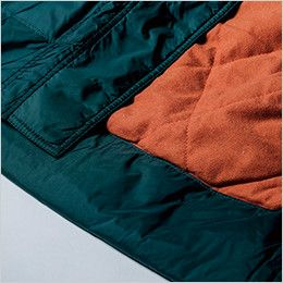 [在庫限り/返品交換不可]ジーベック 551 防水透湿防寒コート 深い裾折返し