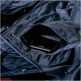 ジーベック 571 防水防寒コート 携帯電話収納ポケット