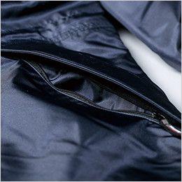 ジーベック 571 防水防寒コート ファスナー付きサイドポケット