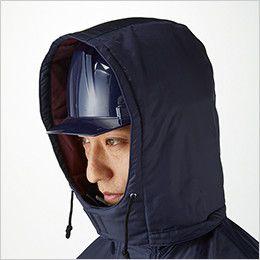 ジーベック 572 防水防寒ブルゾン 大型フードアジャスター(ヘルメット対応・フード取り外し可能)