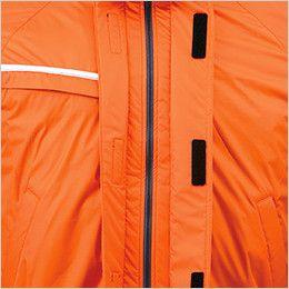 ジーベック 581 防水防寒コート 中綿 ダブルフロント&水切り仕様