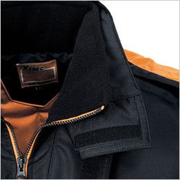 ジーベック 591 防水防寒コート(男女兼用) 衿フリース付