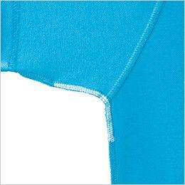 ジーベック 6025 交編カノコ長袖ポロシャツ(胸ポケット・左袖ペン差し付き)(男女兼用) 消臭テープ付き