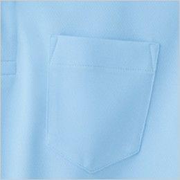 ジーベック 6035 ハニカムメッシュ長袖ポロシャツ(胸ポケット有り)(男女兼用) ポケット付き