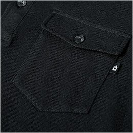 ジーベック 6055 [春夏用]現場服 長袖ポロシャツ フラップ付きポケット