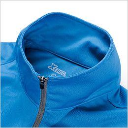 ジーベック 6160 カラーライダース半袖ジップアップシャツ(男女兼用) フルジップアップ仕様