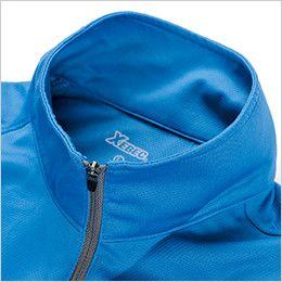 ジーベック 6165 カラーライダース長袖ジップアップ・ポロシャツ(男女兼用) フルジップアップ仕様
