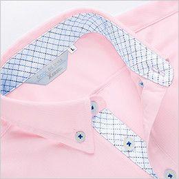 ジーベック 6180 ドライボタンダウンポロシャツ(ポケ付き)(男女兼用) チェックの切り替えし