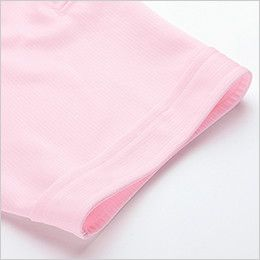 ジーベック 6180 ドライボタンダウンポロシャツ(ポケ付き)(男女兼用) 共布切り替え仕様の袖口
