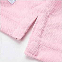 ジーベック 6180 ドライボタンダウンポロシャツ(ポケ付き)(男女兼用) サイドスリット入りの裾
