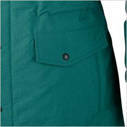 ジーベック 756 制電撥水防寒コート(JIS T8118対応) ポケット付き