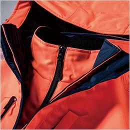 ジーベック 801 高視認性 安全防水防寒コート 二重前立て