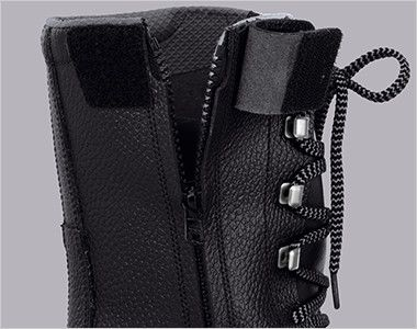 ジーベック 85023 安全長編上靴 樹脂先芯 簡単にシューズの着脱ができるサイドファスナー仕様