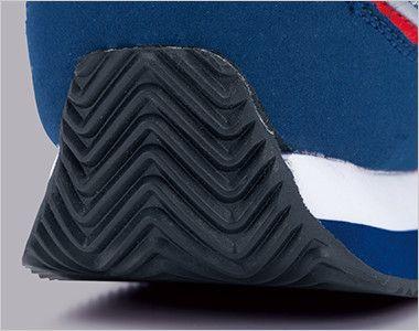 ジーベック 85102 マジックテープ安全靴 スチール先芯 運転がしやすいかかとを巻き上げたソール形状