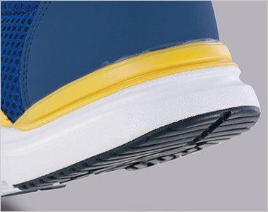 ジーベック 85110 スタビライザー安全靴 樹脂先芯 横ブレがしにくく、歩行が安定し、足の疲れを軽減します。