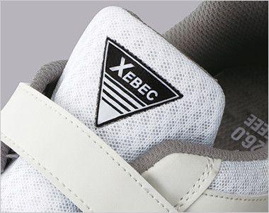ジーベック 85112 メッシュ静電安全靴 樹脂先芯 ブランドロゴ