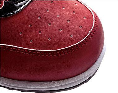 ジーベック 85118 ZIPアップセフティシューズ 樹脂先芯 にメッシュ孔を施して通気性を高めるとともにデザイン性アップ。