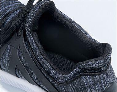 ジーベック 85144 プロスニーカー(R)(男女兼用) ひもタイプ スチール先芯 スリップオン仕様。脱ぎ履きがしやすく、包み込む様な着用感を実現