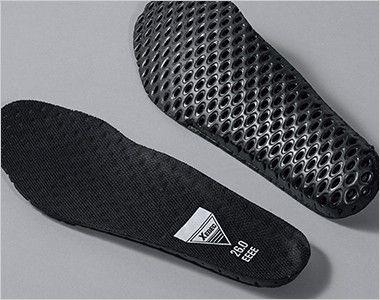 ジーベック 85208 踏み抜き防止セフティシューズ スチール先芯 穴あきのEVAインソール。優れたクッション性と共に、靴内部のムレを軽減します。