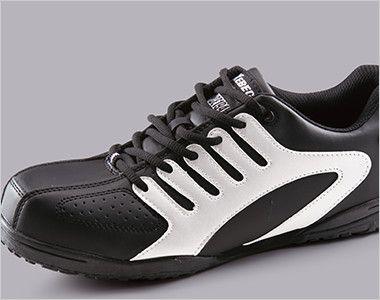 ジーベック 85402 ツートーンセフティシューズ 樹脂先芯 ブラック&ホワイトのツートンカラーでカジュアル感覚に履ける男女兼用デザイン。