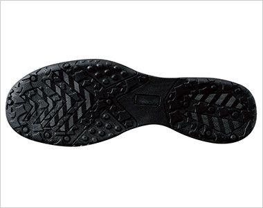 ジーベック 85402 ツートーンセフティシューズ 樹脂先芯 靴底には油に強い耐油配合のラバーを使用しています。