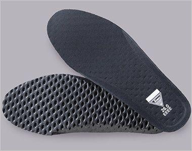 ジーベック 85405 スポーティーセフティシューズ 樹脂先芯 穴あきEVAにメッシュ素材を貼り合わせたインソールでムレを防ぎ快適な履き心地に。