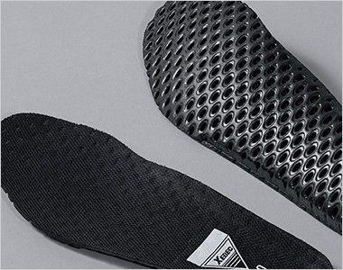 ジーベック 85409 キャンパスセフティシューズ 樹脂先芯 穴あきのEVAインソール。優れたクッション性と共に、靴内部のムレを軽減します。
