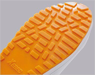 ジーベック 85665 厨房シューズ 先芯なし 耐滑ソール 優れた耐滑性を発揮する耐滑仕様のソールです。水だけでなく油類の多い現場にも対応します。