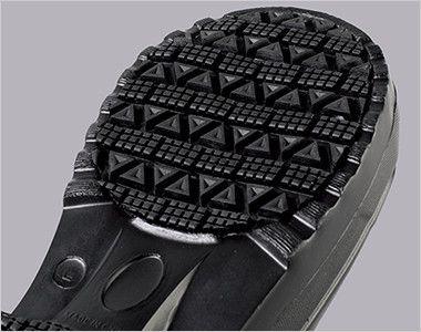 ジーベック 85714 ボア付きEVA防寒長靴(ブーツ) ラバーを貼り合わせているので耐滑性・摩耗性が向上します。