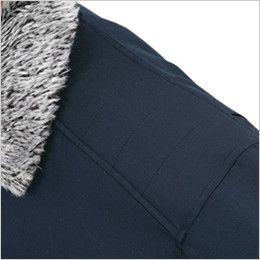 ジーベック 881 防寒コート 襟ボア ポリ100% 肩パッド