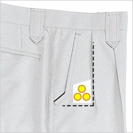 ジーベック 8883 ツータック ラットズボン コインポケット付き