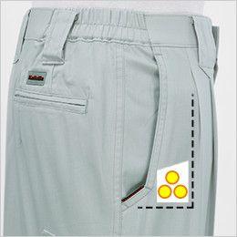 ジーベック 8890 [春夏用]ツータック スラックス コインポケット付き